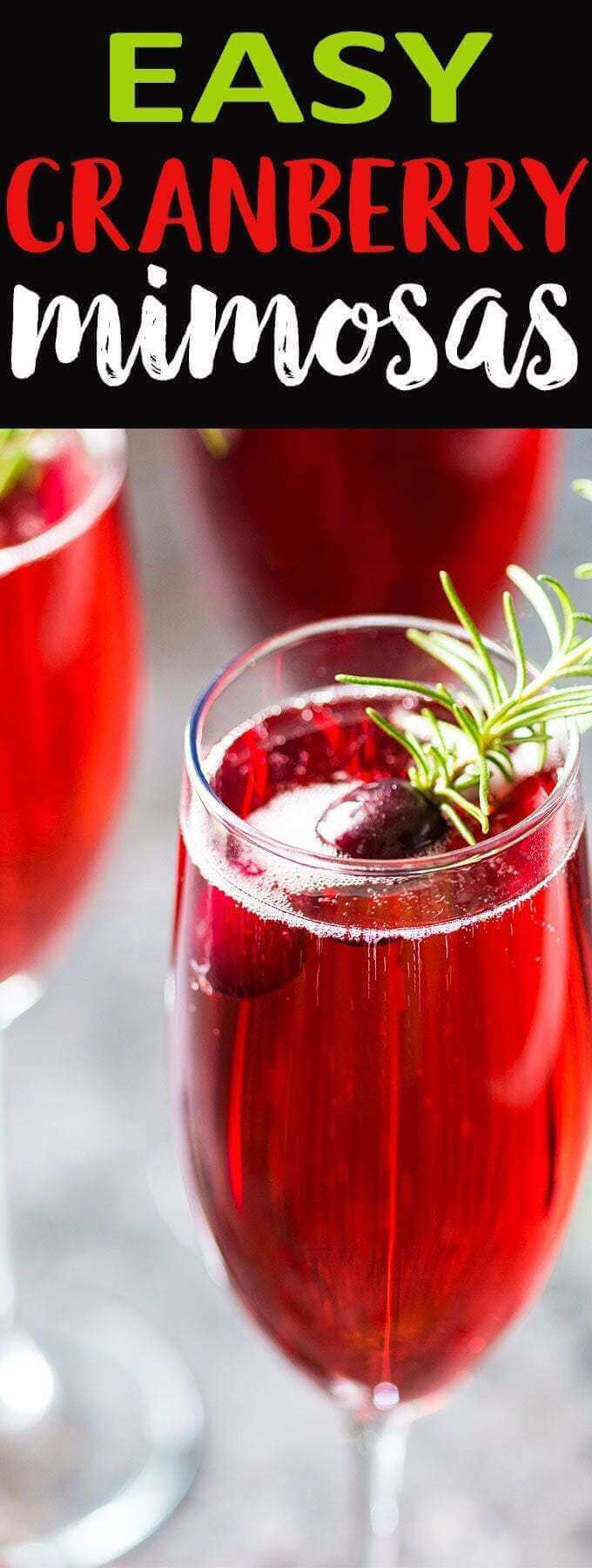 Easy Cranberry Mimosa