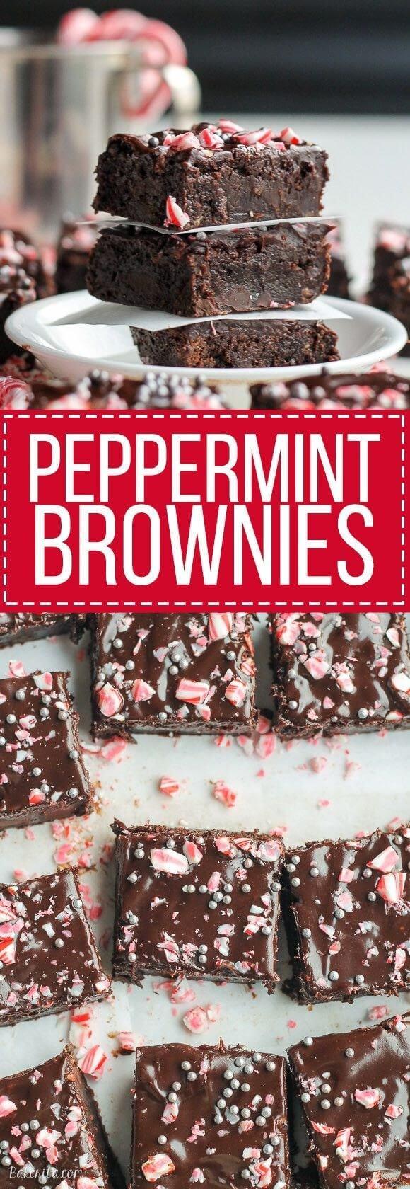 peppermin brownies