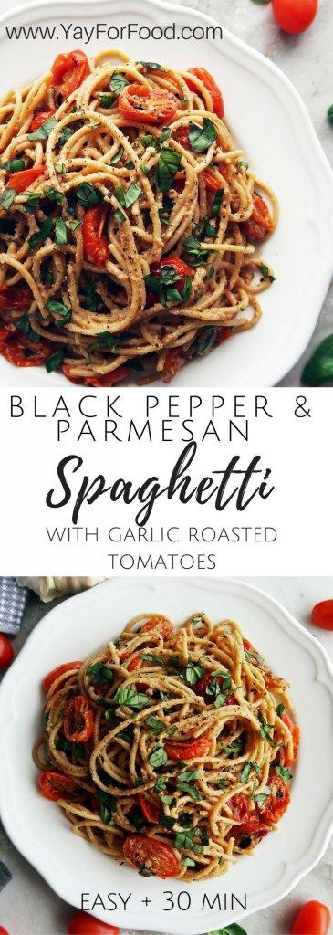 Black Pepper and Parmesan Spaghetti