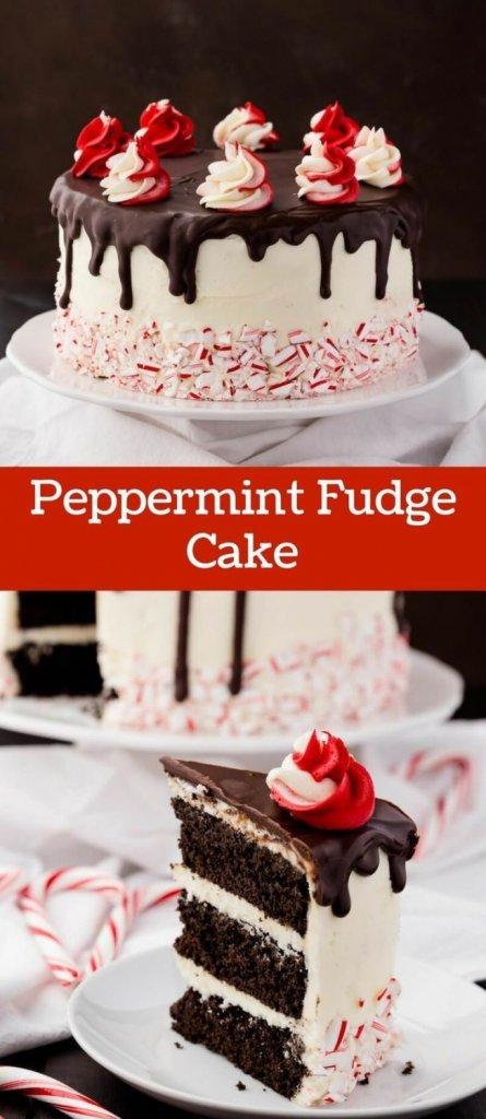 Peppermint Fudge Cake