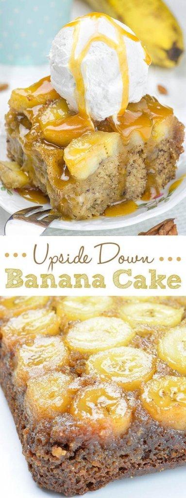 Upside Down Banana Cake