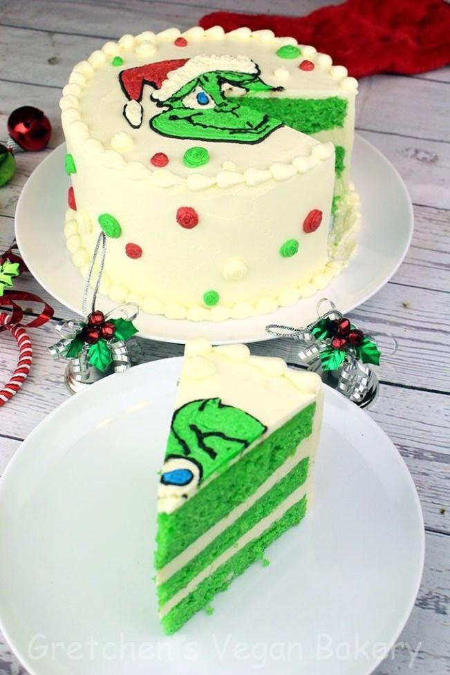 Vegan Christmas Grinch Cake