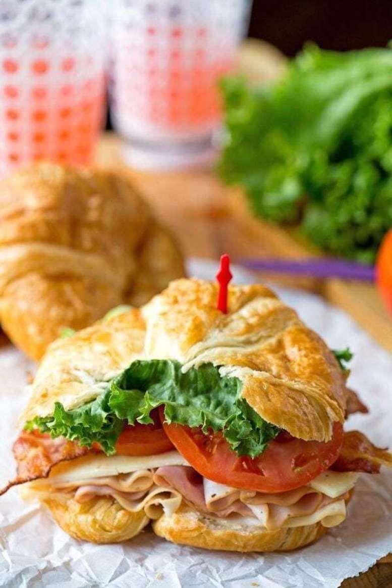 California Club Croissant Sandwich - - 20 Best Croissant Sandwich Recipes