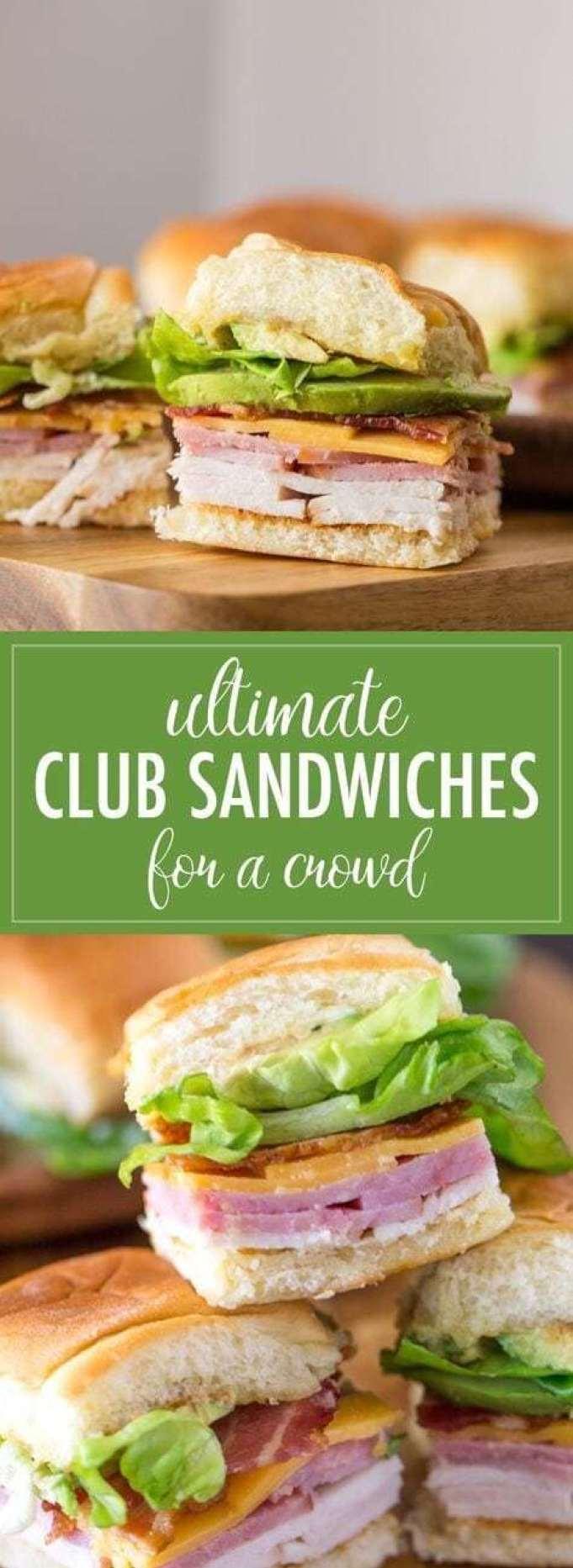 Ultimate Club Sandwiches - - 20 Best Croissant Sandwich Recipes