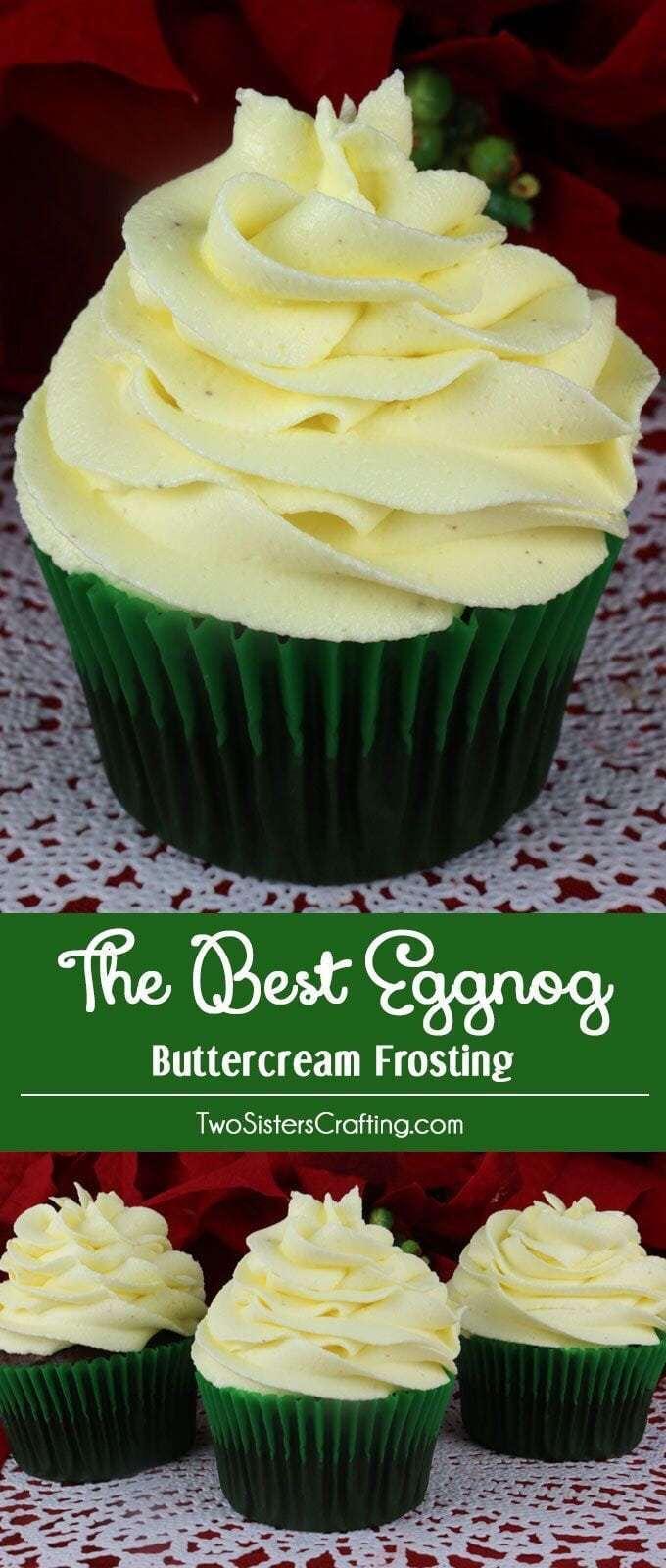 Eggnog butter cream frosting