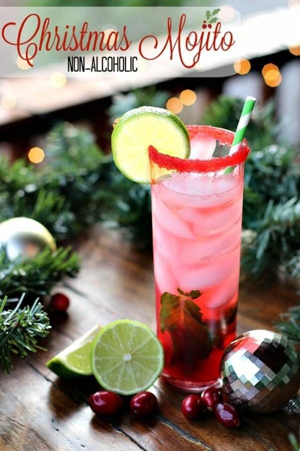 Non-Alcoholic Christmas Mojito