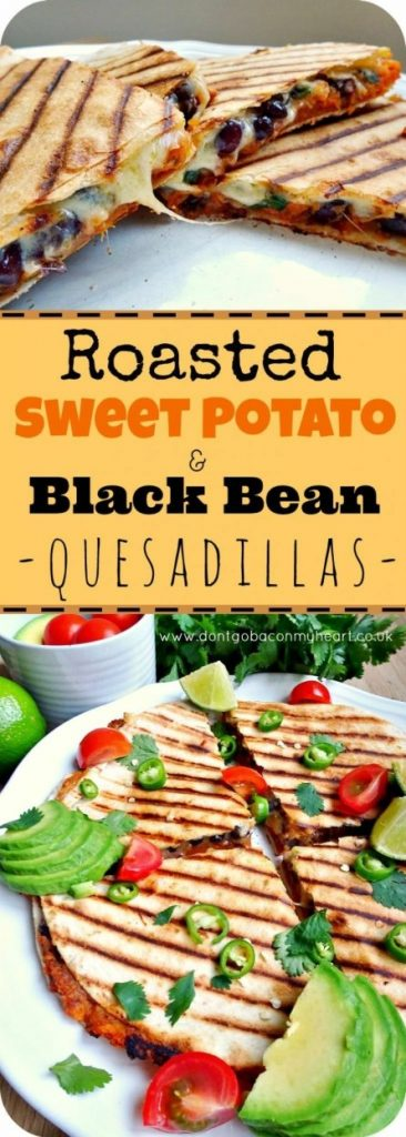 Roasted Sweet Potato and Black Bean Quesadillas